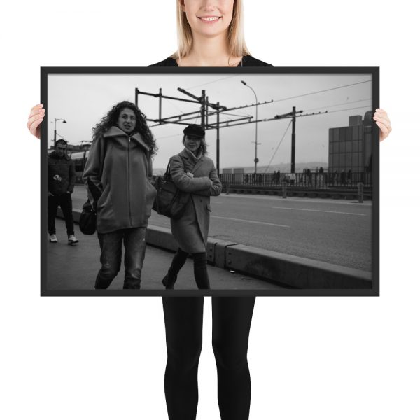 Black and white photography print