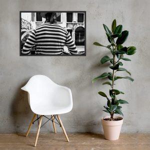 street photography print - Gondola-driver